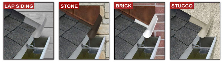 It works with lap sidings, stone, brick and stucco.