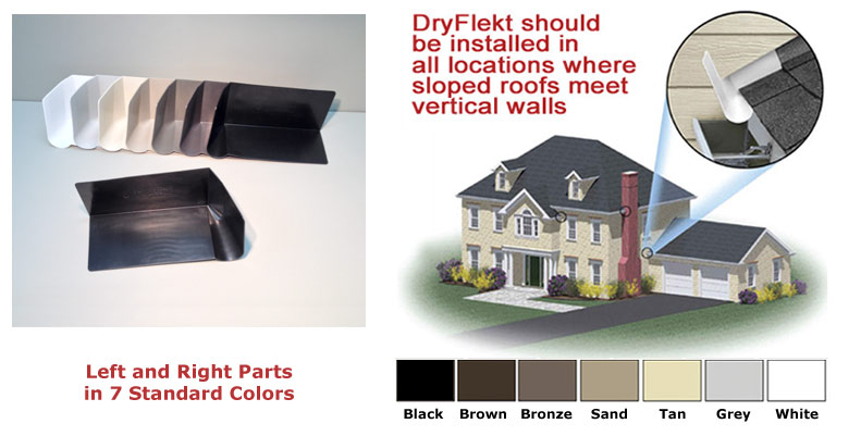 Install our kick-out converter where sloped roofs meet vertical walls.