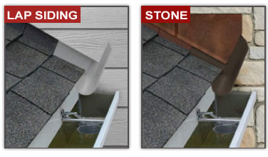 It works with lap sidings and stone.